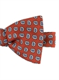 Silk Paisley Bow Tie in Rust