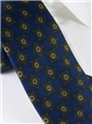 Silk Printed Madder Tie With Tile Motif in Navy