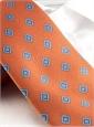 Silk Print Diamond Tie in Orange