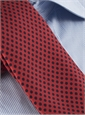 Silk Print Polka Dot Tie in Brick