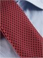 Silk Print Polka Dot Tie in Brick