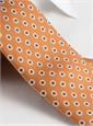 Silk Circle Diamond Motif Tie in Ochre
