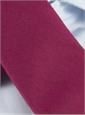 Silk and Wool Solid Tie in Cranberry