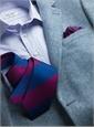 Silk Block Stripe Tie in Spice