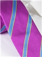 Silk Stripe Tie in Orchid, Sky, Lime