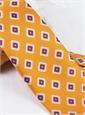 Silk Printed Tile Motif Tie in Amber