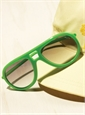 Aviator Rubber Sunglass in Apple Green