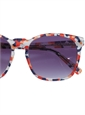 Liberty Sunglasses in Coral, Navy, and Red Abstract Print