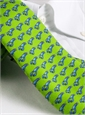 Silk Print Lobster Tie in Lime