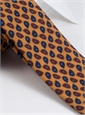 Wool Droplet Motif Tie in Marigold