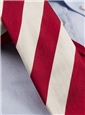 Red and White Block Stripe Tie