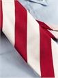 Red and White Block Stripe Tie