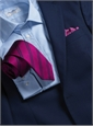 Silk Double Bar Stripe Tie in Magenta
