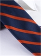 Mogador Bar Stripe Tie in Navy and Orange