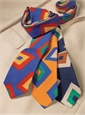 Silk and Linen Retro Diamond Tie in Marigold