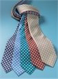 Silk Diamond Motif Tie in Sky