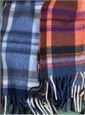 Wool and Angora Plaid Scarves