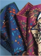Silk Print Birds of Paradise Pocket Square
