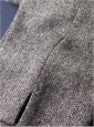 Ladies Grey and White Herringbone Tweed Trousers