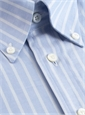 Blue Oxford Button Down with White Stripe