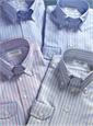 Blue Oxford Button Down with White Stripe