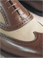 The Gerrard Spectator in Stone Canvas & Tan Leather