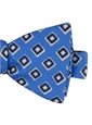 Silk Print Diamond Motif Bow Tie in Cobalt