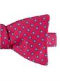 Silk Print Polka Dot Motif Bow Tie in Magenta