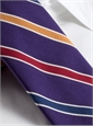 Silk and Cotton Stripe Tie in Purple