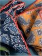 Linen Paisley Pocket Squares