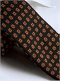 Wool & Silk Printed Neat Tie Forest