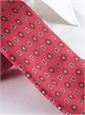 Silk Neat Motif Tie in Strawberry