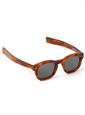 Bold Semi-Square Sunglasses in Amber