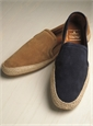 Men's Suede Espadrilles in Tobacco Brown