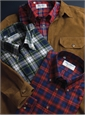 Red, Royal, and Midnight Plaid Brushed Cotton Button Down