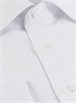 White Cotton Evening Shirt with Piquet Front