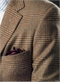 Spice and Chocolate Glen Plaid Cashmere Sport Coat with Emerald Windowpane