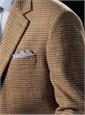 Sand and Sage Glen Plaid Cashmere Sport Coat with Orange Windowpane