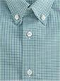 Boys Shirt Blue/Green Small Gingham Buttondown