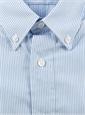 Boys Blue Pencil Stripe Shirt