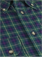 Green and Blue Tartan Button Down