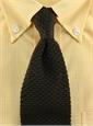 Classic Silk Knit Tie in Brown