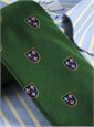 Silk Woven Crest Tie in Malachite