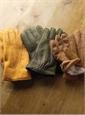 Cornflower Blue and Sage Green Wool Plaid Blanket Jacket