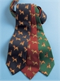 Silk Print Dog Motif Tie in Navy