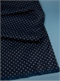 Silk Churchill Dot Navy Scarf