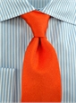 English Silk Solid Necktie Orange