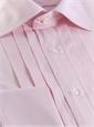 Pink Pleated Tuxedo Shirt