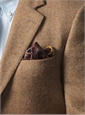 Spice and Cream Herringbone Wool Sport Coat