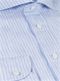 Blue and White Bengal Stripe Linen Cutaway